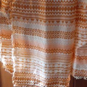 Lucky Brand 100% silk light scarf